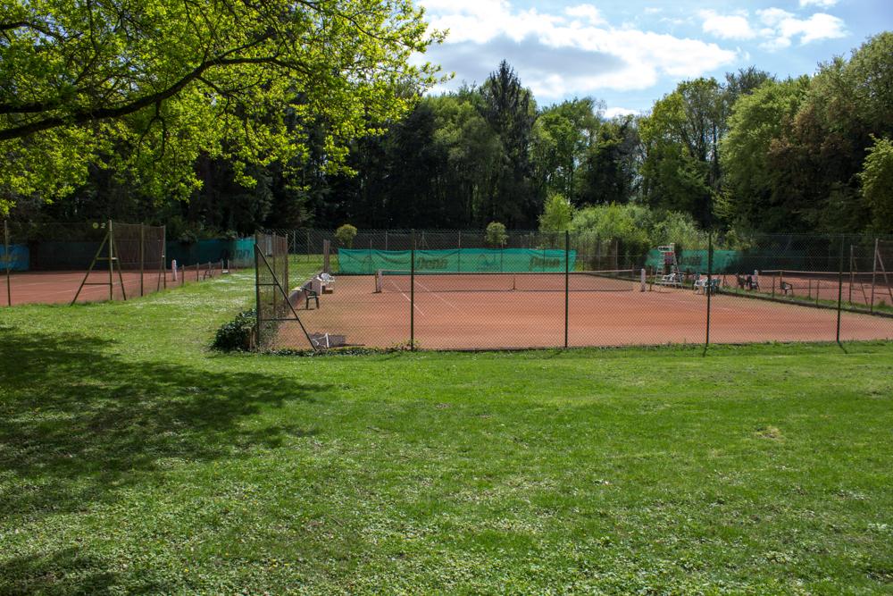 Courts extérieur tennis terres battues garden