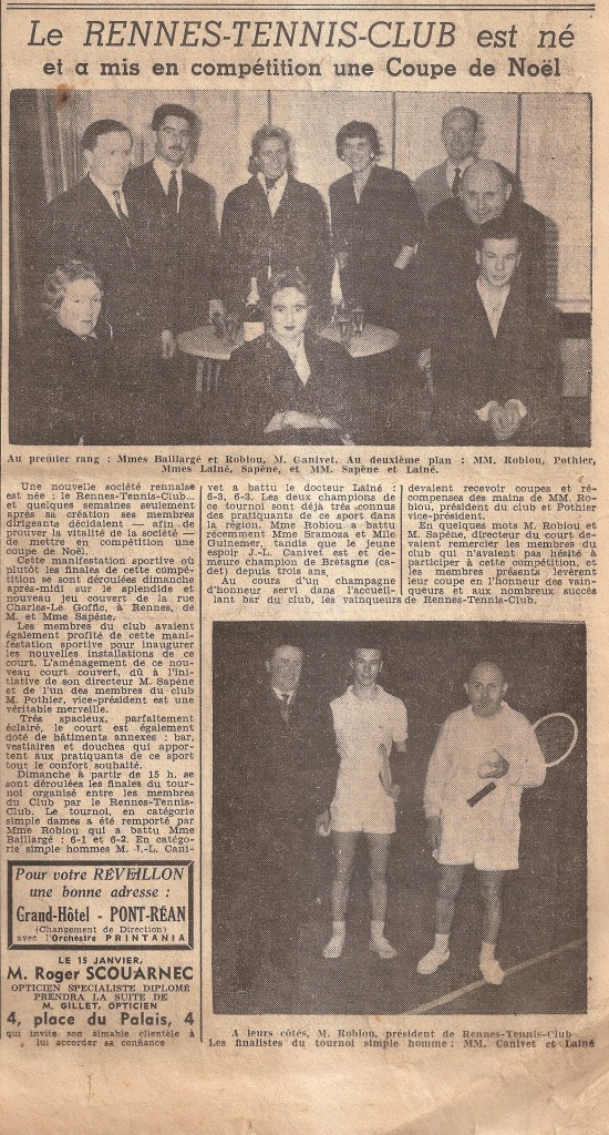 Rennes Tennis Club rue Charles le Goffic